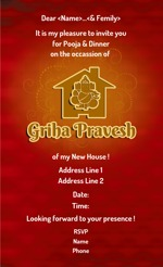 Griha pravesh invitations printvenue personalize invitations all designs stopboris Image collections