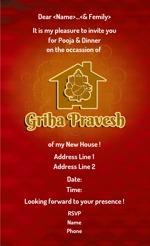 Griha pravesh invitations printvenue personalize invitations all designs stopboris Gallery